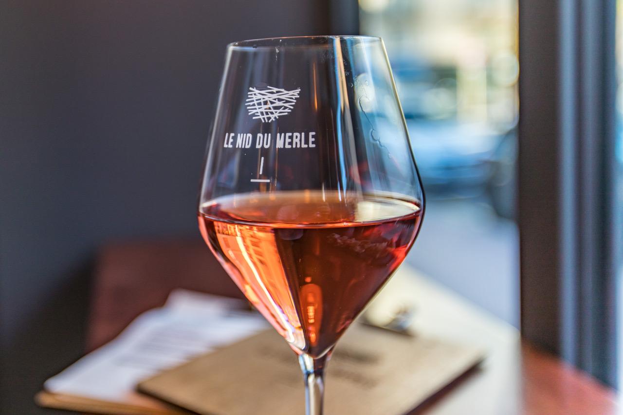verre vin nid du merle