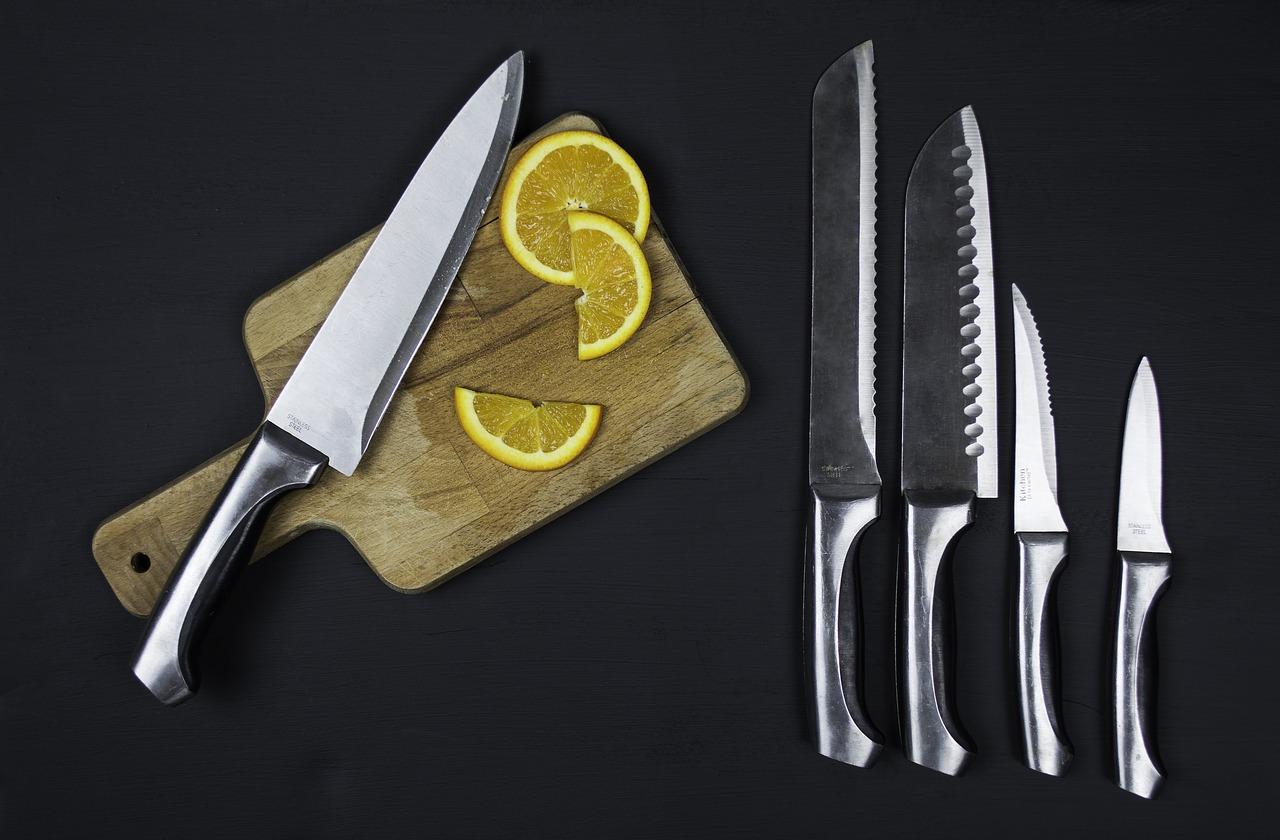 un service à couteau pour une cuisine professionnelle